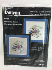 NEW Janlynn Counted Cross Stitch Kit #80-86C Welcome Basket Vintage1996