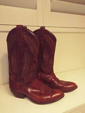 TONY LAMA Cowboy Boots USA D Mens LEATHER Western Motorcycle Boots