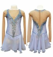 New Ice Figure Skating Dress Baton Twirling Dance Dress competition Custom  K002