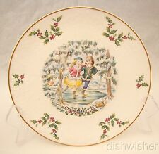 "Royal Doulton VICTORIAN CHRISTMAS 1977 SKATERS Christmas Plate 8 3/8"" EXCELLENT"