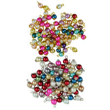100pcs Crystal Glass Pearl Charms Pendants Loose DIY Crafts Jewelry Findings