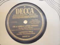 "Vintage '78 shellac record Lawrence Welk ""I'm a Lonely Little Petunia"" +1"