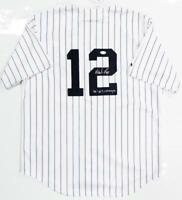 Wade Boggs Autographed New York Yankees P/S Majestic Jersey W/ WS Champs- JSA W