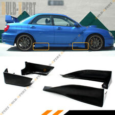FOR 02-07 IMPREZA WRX STI GD FRONT+REAR SIDE SKIRT AERO GUARD STRAKE SPATS COMBO