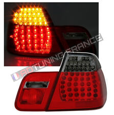 2 FEUX ARRIERE LED M3 ROUGE NOIR BMW SERIE 3 E46 BERLINE PHASE 1 1998 A 09/2001