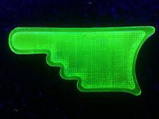 Green Vaseline glass Arrow car truck bus turn signal hand uranium light lens art