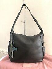 Genuine RADLEY Large Black Leather Tassel Hobo Shoulder Bag