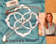 NWT Kendra Scott Barbara Pendant Necklace Rose Gold Ivory Pearl $70