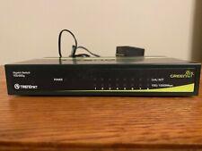 TRENDnet TEG-S80g 8-Port Gigabit GREENnet Switch w/ Power Supply - Untested