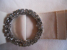 Lanvin Belt Beige Crystal Silver Decorative Element Limited Edition