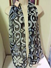 NWT Multi function Ladies Scarf Belt Wrap, Shades of Gray