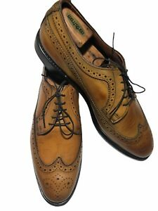 Allen Edmonds Men's Mcgregor Walnut/Cognac Calfskin Leather Wingtips - Size 11 D