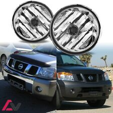 04-15 For Nissan Clear Lens Pair Bumper Fog Light Lamp OE Replacement DOT Bulbs