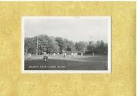 ND Lisbon 1961 RPPC real photo postcard FOOTBALL AT ATHLETIC FIELD North Dakota