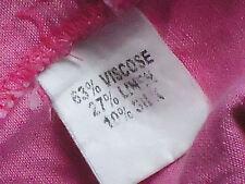 RODNEY CLARK HotPinkS/s27%Linen10%SilkMix Size10 EUC