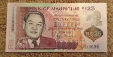 Mauritius Banknote. 25 Rupees. Polymer. Uncirculated. World banknote.