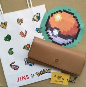 Jins Pokemon Collaboration Glasses Case Brown Green NEW F/S Japan