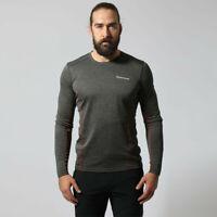 Montane Mens Dart Top Grey Long Sleeve Crew Neck Sports Outdoors