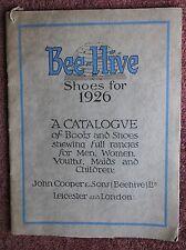 Original 1926 Bee-Hive Shoe Trade Catalogue + leaflets John Cooper Leicester