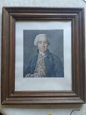 """GRAVURE XIXème ( vitrée) """" PORTRAIT DE GENTILHOMME """" du XVIIIème ( noblesse )"""