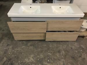 Designer Waschtisch inkl. Unterschrank 140 cm, hochwertige Markenware NEU