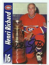 Henri Richard Signed Molson Export Card #16