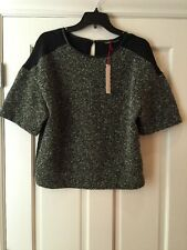 NEW GYPSY 05 Torcello Boucle Box Top Blouse mixed fabrication Size Small $135