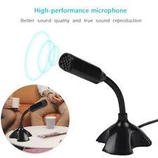 USB Desk Computer Gooseneck Microphone Mic w/Stand for Live Streaming Speech