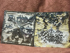 2 Vintage Antique Metal Tin Ceiling Tiles 12� X 12� Reclaim Salvage Shabby Chic