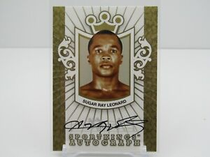 SUGAR RAY LEONARD 2007 SPORT KINGS GOLD AUTOGRAPH AUTO ONLY 10 MADE!!