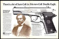 1991 COLT MKII Series 90 DOUBLE EAGLE PISTOL 2-page AD Collectible Advertising