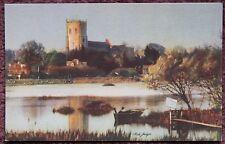 Christchurch Priory Vintage Postcard Dorset Judges Ltd Artist Fred Judge C7803
