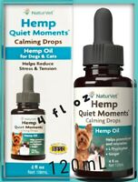 Hemp Oil Naturvet Quiet Moments Calming Drops Dogs & Cats 4 fl oz