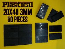 40x20mm 20x40mm 3mm plastic miniature bases Warhammer BUY 2 PACKS GET 1 FREE