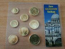 SERIE OFICIAL DEL EURO DE VATICANO 2005. CON APLICACIÓN DE ORO SOLO 200 BLISTERS