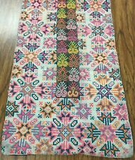 Handmade Tibetan inspired and embroidered rectangle table runner or wall hanging