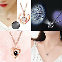 100 languages In I LOVE YOU 925 Silver Gold Pendant Necklace For Memory of LOVE