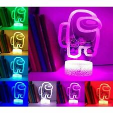 Among Us Game 3D LED Light Touch Lamp Gift Fans Kids 16 Color with Remote
