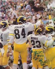 Jamie Morris signed 8x10 Michigan Wolverines color photo (Chof)