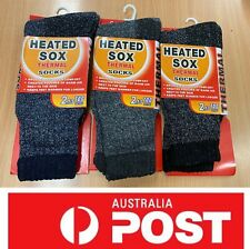 Heated Sox, Men's Comfy Thermal Socks, 3 Pairs For $13.25 Special, AU Stock