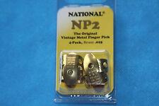 National Original Vintage Brass Finger Picks Set of 4, MPN NP2B-4PK