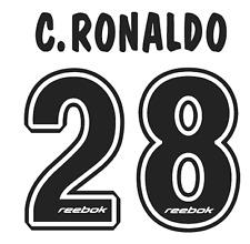 Sporting Lisbonne C Ronaldo Nameset shirt Football Numéro Lettre chaleur Imprimé Football