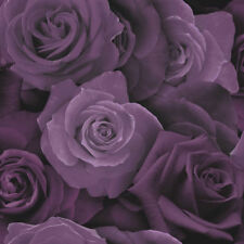 Austin Purple Rose Floral Flower Feature Wallpaper 675601 Arthouse Opera