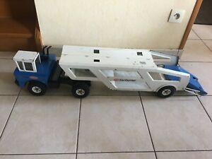 TONKA Rare Transporteur de voiture Car Carrier Truck Tôle Mighty vintageTin