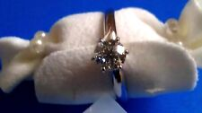 Excellent 3/4ct F Natural Diamond 14K White Gold Engagement Wedding Ring