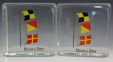 "Nautical Maritime Cast Glass Mcm Bookends ""High & Dry"" Booth's Gin ?"