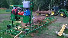 "BAND SAW MILL SAWMILL FARMHAWK 24"" WITH HONDA V TWIN/ 30' TRACK/POWER FEED/SET"