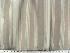 Brown 100/% Linen Upholstery Fabric Ralph Lauren R$244y Ice House Stripe CL Flint