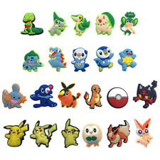 Mixed 50PCS Pokemon PVC Shoe Charms Shoes Accessories Kids Xmas Gifts