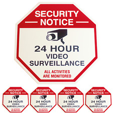SECURITY CAMERA SURVEILLANCE YARD SIGN CCTV WITH 4 SECURITY STICKER DECALS